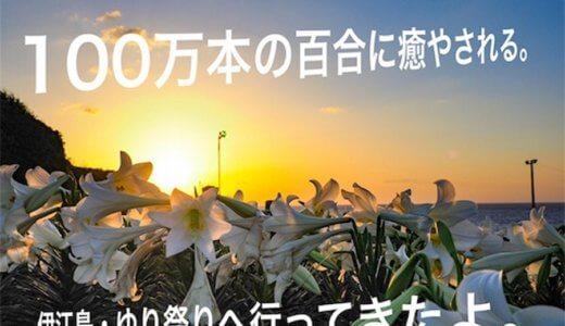 100万本のユリに癒やされる。伊江島ゆり祭りに行ってきたよ(・∀・)