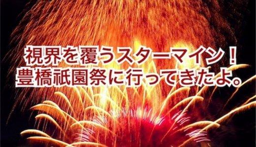 視界すべてを覆うスターマイン!豊橋祇園祭に行ってきたよ。